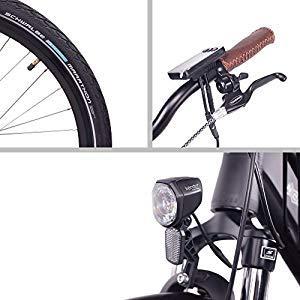 Luz, rueda y display ncm milano 48 v bici eléctrica